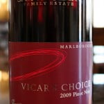 2009 Saint Clair Vicar's Choice Pinot Noir – Speaking Words of Wisdom, Let It Breathe