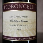2008 Pedroncelli Petite Sirah – A Nice Pairing For Chocolate Bunnies!