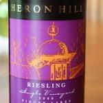 2008 Heron Hill Winery Ingle Vineyard Riesling – Refreshing and Crisp