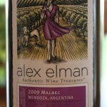 "2009 Alex Elman Organic Malbec – A Nice Malbec From ""The Blind Wine Chick"""