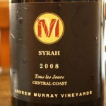 Andre Murray Vineyards Tours Les Jours Syrah 2008 – For Everyday People