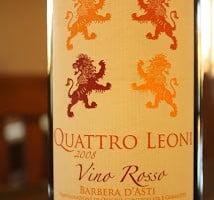 Quattro Leoni Vino Rosso Barbera D'Asti – An Aromatic and Succulent Italian Red