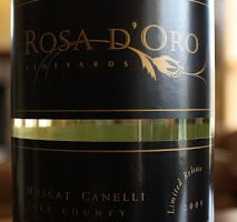 Rosa d'Oro Muscat Canelli 2009 – A Must Have Muscat