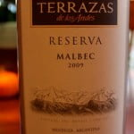 Terrazas de Los Andes Malbec Reserva 2009 – Malbec Mania! Search For The Best Malbec Under $20
