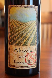 2007_Abacela_Estate_Tempranillo