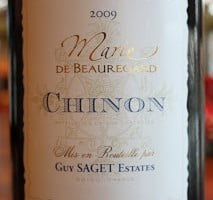 Guy Saget Estates Marie de Beauregard Chinon Cabernet Franc 2009 – A Divine Wine For Olive Aficionados