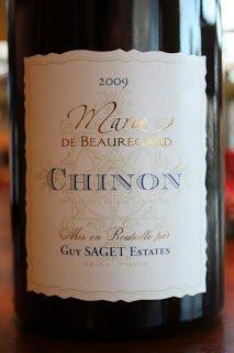 2009_Guy_Saget_Marie_de_Beauregard_Chinon_Cabernet_Franc