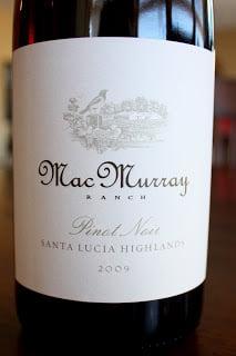 2009_MacMurray_Ranch_Santa_Lucia_Highlands_Pinot_Noir