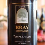 Bray Vineyards Tempranillo 2007 – An All-American Tempranillo