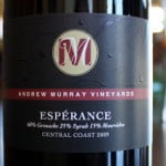 Andrew Murray Vineyards Esperance 2009 – A Rollercoaster of Flavors You'll Want To Ride Again and Again