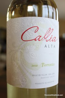Bodegas Callia Alta Torrontés 2010 - Sweet and Fresh