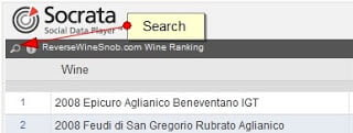 Wine Ranking search