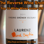 Top 10 White Wines Under $20 – October/November 2012 Edition