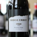 Ridge Crest Syrah 2010 – Simply Delicious
