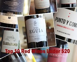 Top 10 Red Wines Under $20 – Fall 2013 Edition