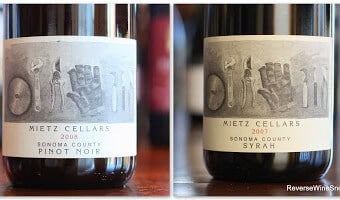 Mietz Cellars Sonoma County Syrah and Pinot Noir – Rare Finds