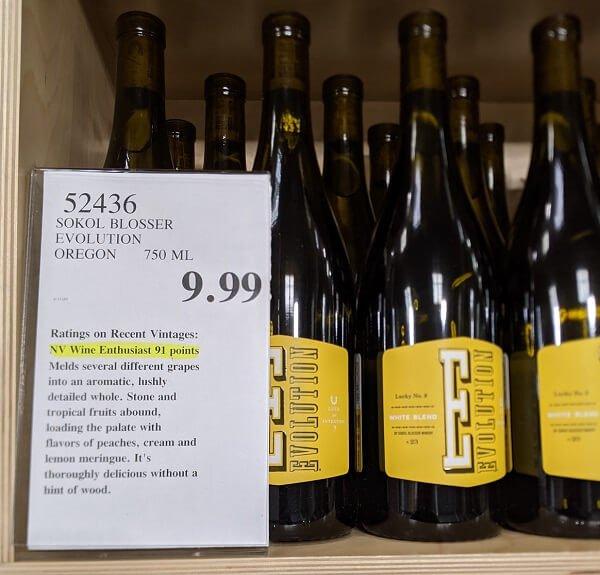 Sokol Blosser Evolution Lucky No. 9 White Costco Bottle Price