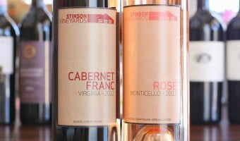 Virginia Is For Wine Lovers? Stinson Vineyards Cabernet Franc 2012 and Monticello Rosé 2012