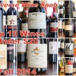 Top 10 Red Wines Under $20