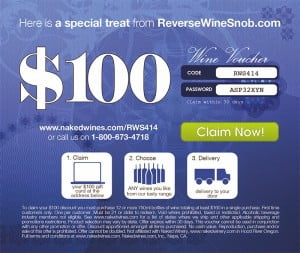 $100 of free wine for readers of Reverse Wine Snob!