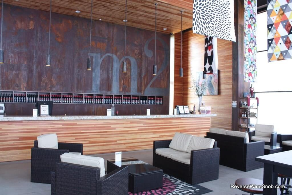 The interior of the m2 Wines tasting room