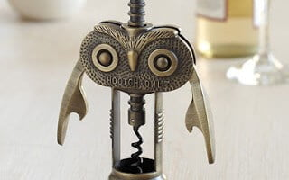 Fun Wine Gifts for Friends and Neighbors -- The HOOTCH-OWL from Red Envelope