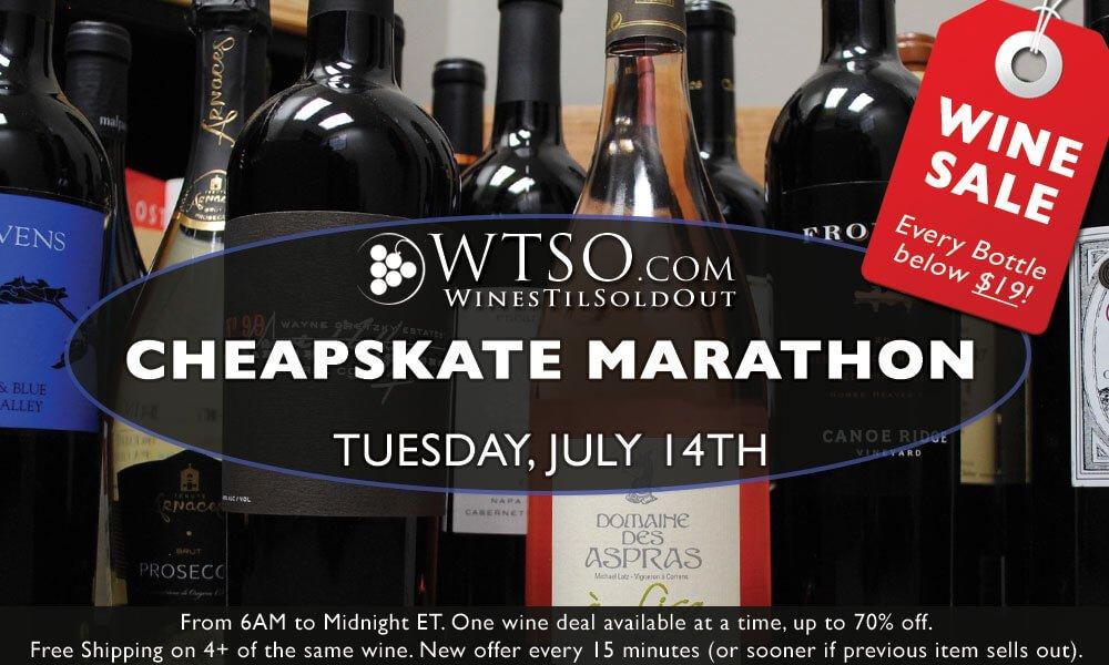 The WTSO Cheapskate Marathon - A Can't Miss Event