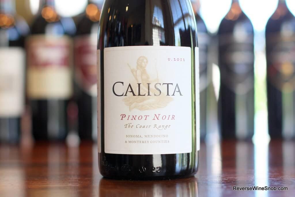 Calista The Coast Range Pinot Noir - Delightful!