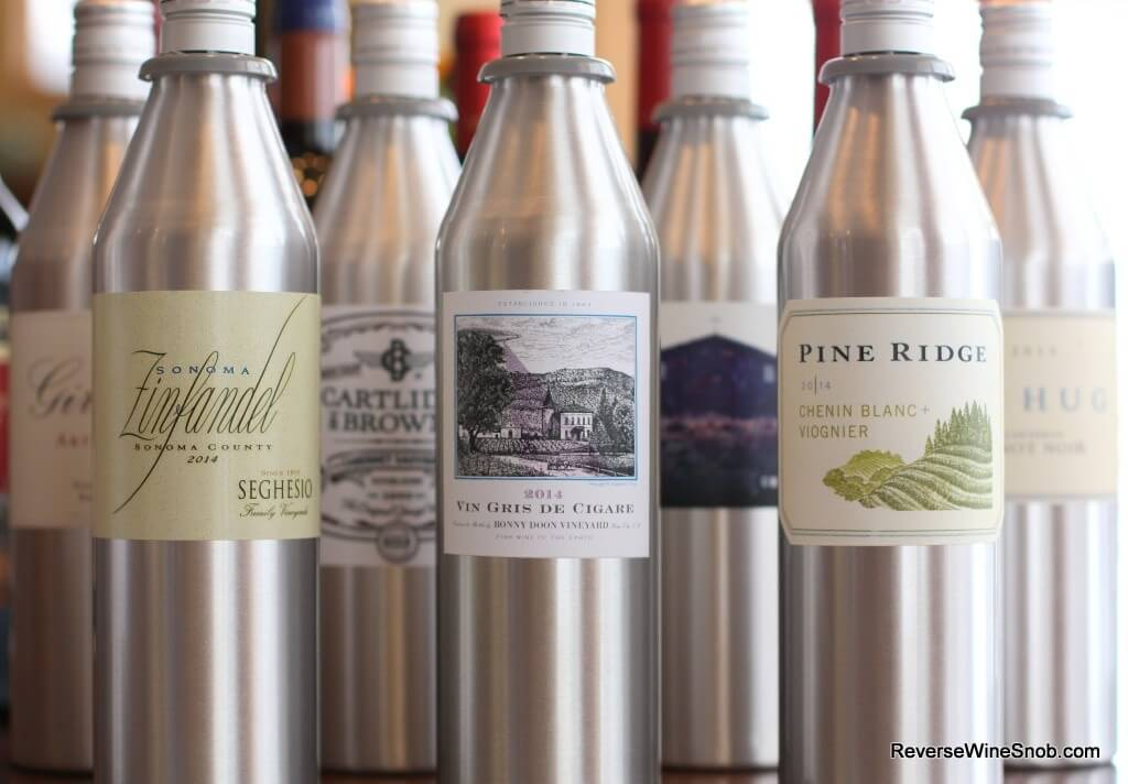 The Kuvee wine bottles