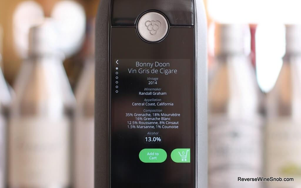 The Kuvee Smart Bottle screen