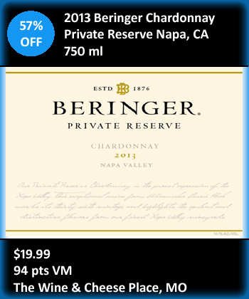 Beringer Chardonnay Private Reserve Deal Tile