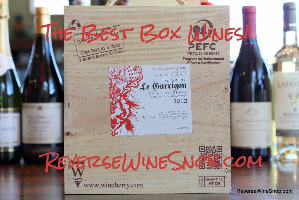 The Best Box Wine - The Reverse Wine Snob Picks!