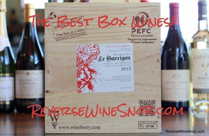 The Best Box Wine - The Reverse Wine Snob Picks!
