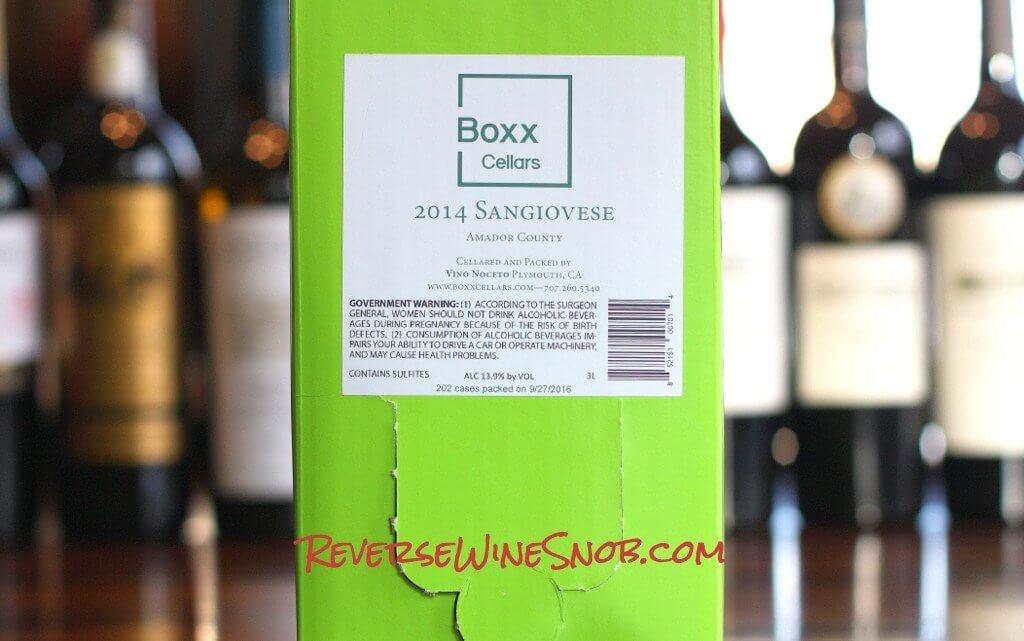 Boxx Cellars Sangiovese - Truly Tasty