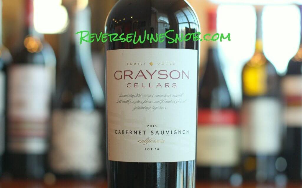 Grayson Cellars Cabernet Sauvignon - The Definition of Crowd-Pleasing