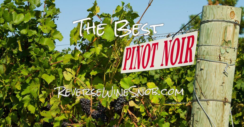 The Best Pinot Noir - The Reverse Wine Snob Picks!