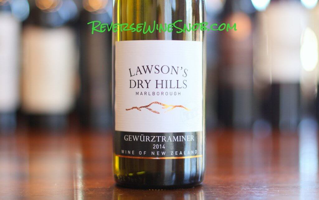 Lawson's Dry Hills Gewurztraminer - Intriguing, Enticing and Quite Good