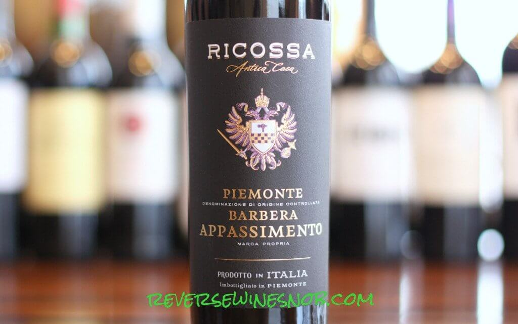 Ricossa Antica Casa Piemonte Barbera Appassimento - One-of-a-Kind!