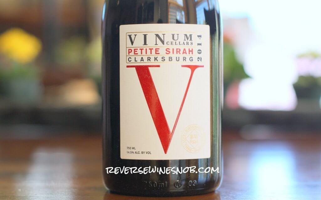 Vinum Cellars Petite Sirah - Big, Tasty and Smooth