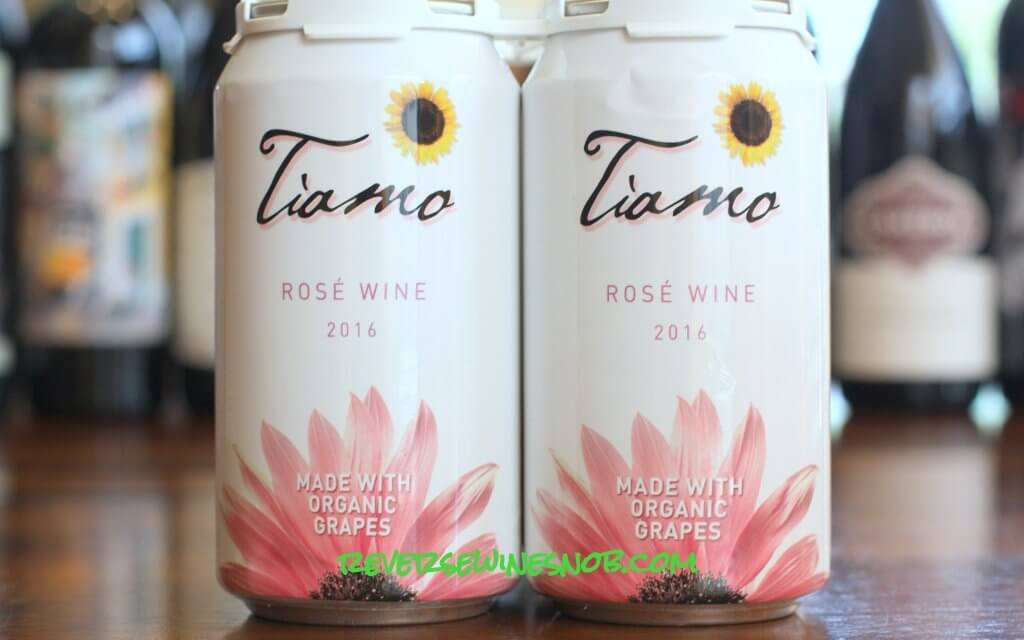 Tiamo Organic Rosé Wine in a Can