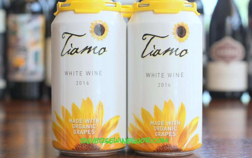 Tiamo Organic White Wine in a Can