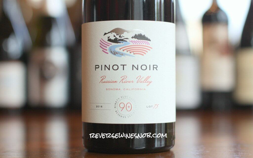 90 Plus Cellars Russian River Valley Pinot Noir Lot 75 - Stunning!