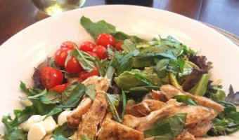 Silkbush Viognier and Lime Chicken with Avocado Caprese Salad - Summer Lovin'