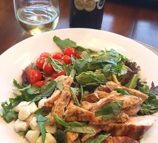 Silkbush Viognier and Lime Chicken with Avocado Caprese Salad - Summer Lovin'
