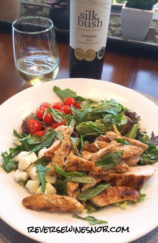 Silkbush Viognier Plus Lime Chicken with Avocado Caprese Salad - Summer Lovin'