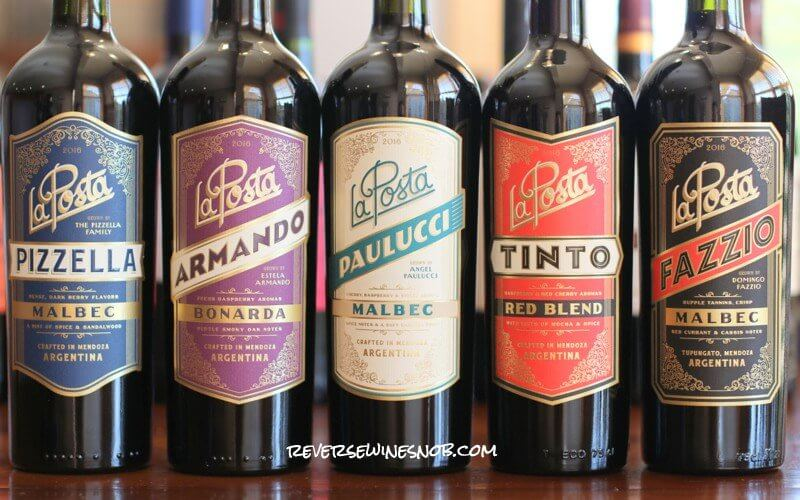 La Posta Tinto Red Blend along with the other wines in the line