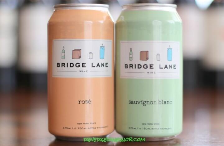 Bridge Lane Rosé and Bridge Lane Sauvignon Blanc - High-Quality Wine In A Can