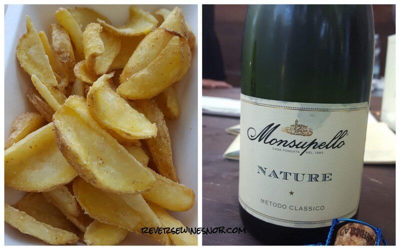 Sparkling Wine and Fries at Hostaria Verona!