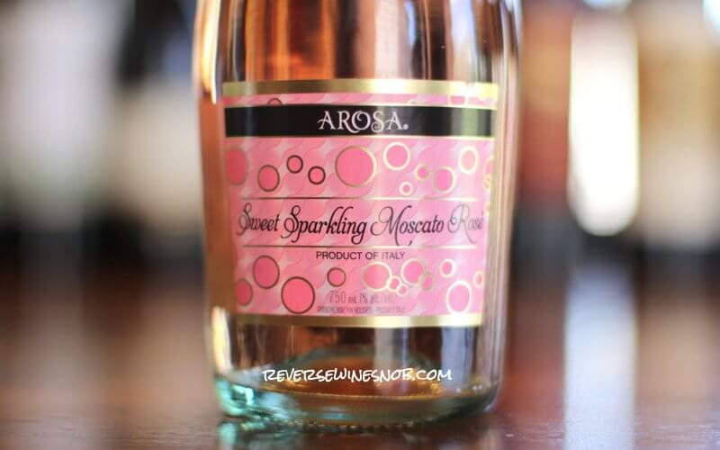 Arosa Sweet Sparkling Moscato Rosé - True To Its Name
