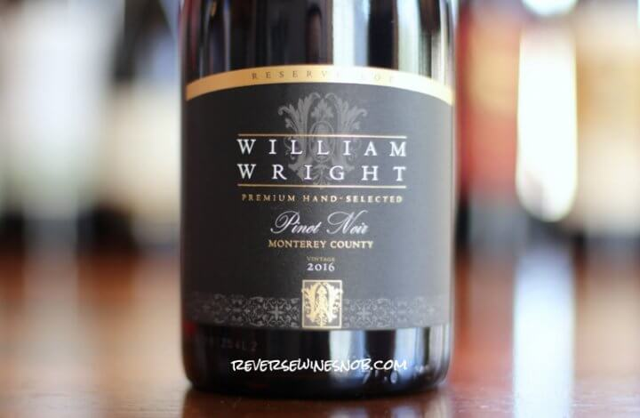 William Wright Reserve Pinot Noir - The Right Stuff